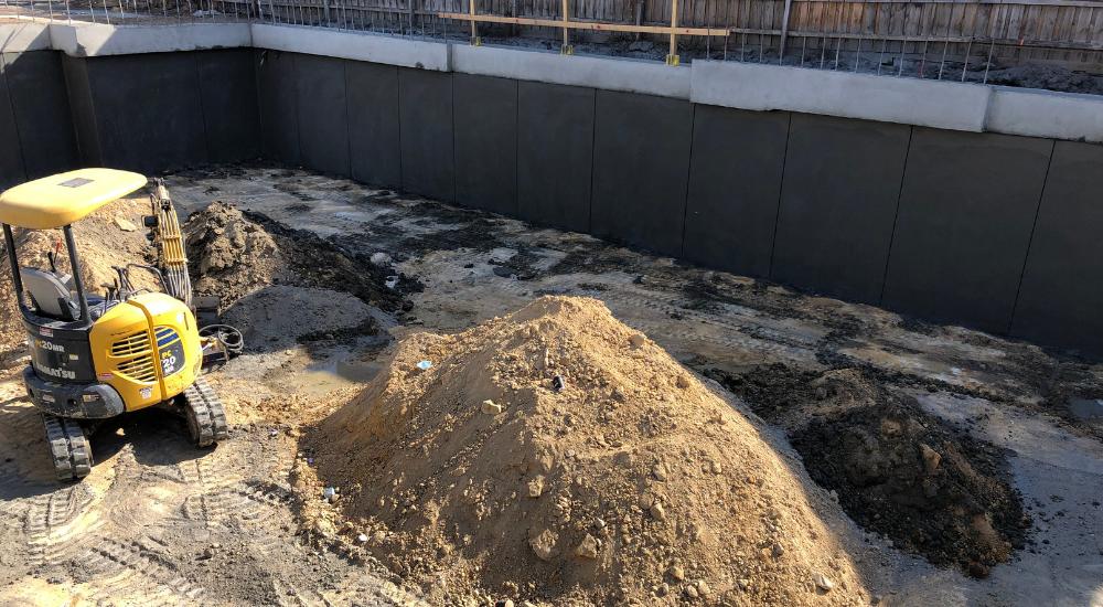 St Kilda - Shotcrete Walls Sprayed